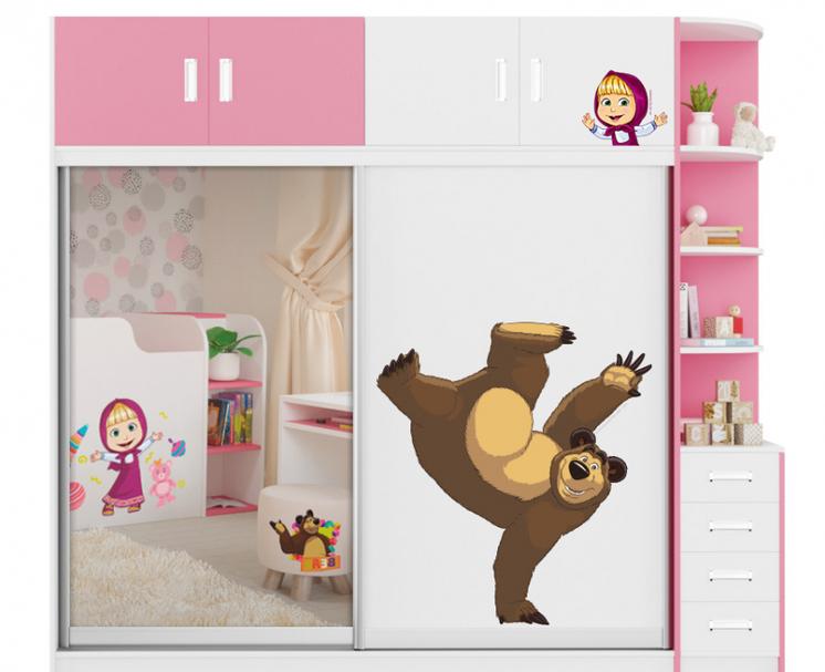 Шкаф-купе Маша и медведь